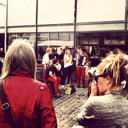 """Market music!"" -Ivy Hjornevik"