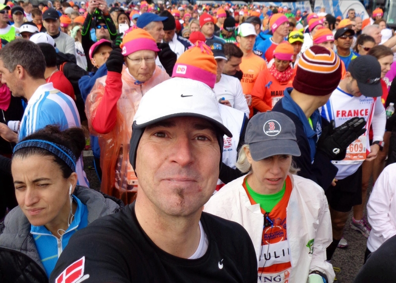 Together with 50.000 fellow runners on Staten Island, New York, at the beginning of the ING New York Marathon, 3rd November 2013. Finishing time 3 h 57 m.