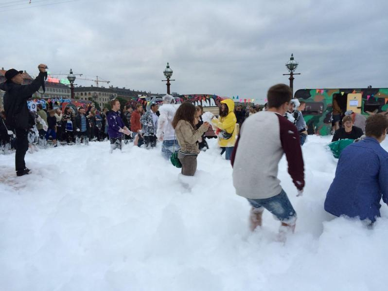 Foam party in the streets (I didn't join in...)