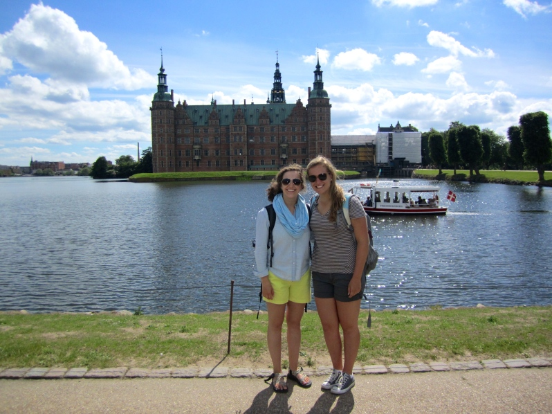 Frederiksborg with my new friend Sydney