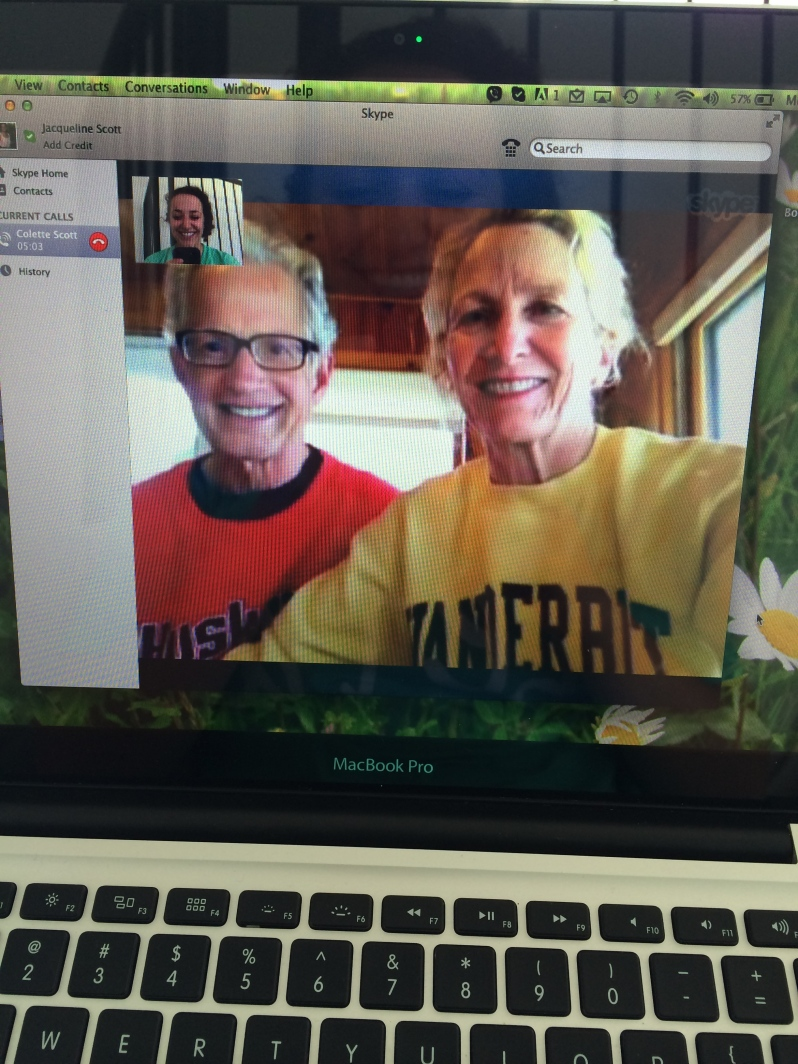 Skyping with Mom and Dad