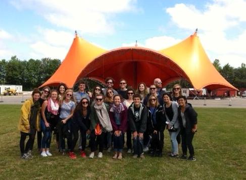 Pre-Festival Tour of the Orange Stage Area