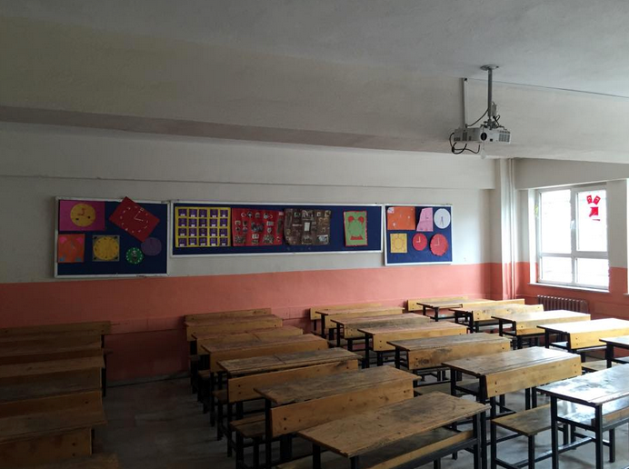 Most of the classrooms were large due to population. This was a typical classroom of a primary school, which is equivalent to an elementary school in the United States.