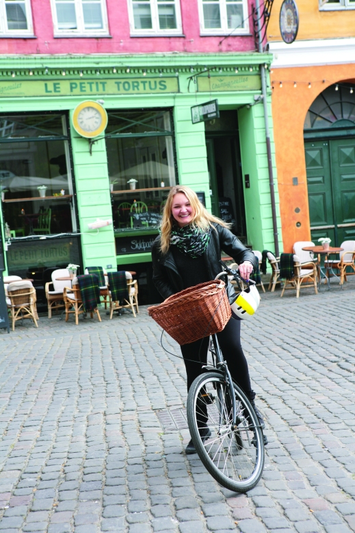 Copenhagen, girl on bike, SP14