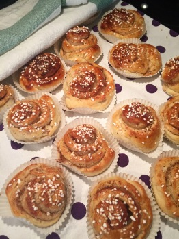 At last - perfect kanelbullar are ready for eating