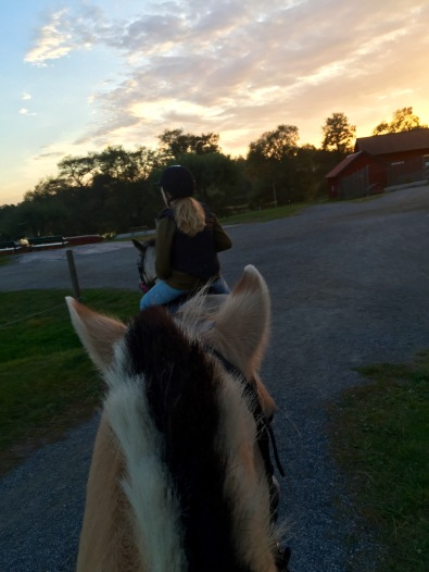 Me getting to ride with Ida at the beautiful farm!