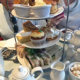 Willow Tea Room - one of the many arrangements of scones, sweets, and tea sandwiches that we had