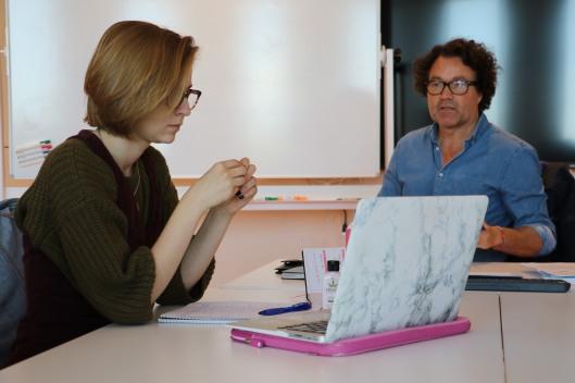 Jan Holmgaard teaching, Literature Program